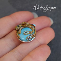 """Brown Bunny on Turquoise Popper • <a style=""""font-size:0.8em;"""" href=""""https://www.flickr.com/photos/37516896@N05/8104886195/"""" target=""""_blank"""">View on Flickr</a>"""