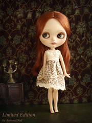 Maud as model for my new  dress collection