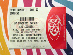 My ticket (Mitchypop) Tags: glasgow 2012 kingtuts gazcoombes