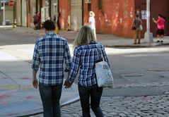 Plaid Lovers (JVierno77) Tags: street nyc two ny newyork love brooklyn canon hands plaid 70300mm 60d shg88