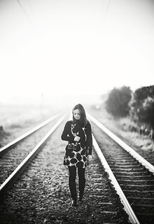 Train Girl with a camera