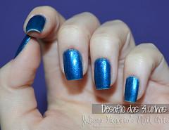 Desafio das 31 unhas - Dia 5 (Juliana Honório's Nail Arts) Tags: blue azul glitter nail polish nails nailpolish unhas risque unha metálico realce desafiodas31unhas