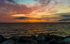 Summer Sunsets (NikonD3xuser1(Thanks for 1.09 million visits)) Tags: sunset summer sky wisconsin rocks lakes madison tenney