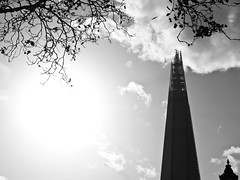 The Shard (goodbyetrouble) Tags: bw london skyscraper shard hochhaus