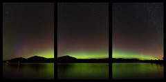 Loch Venachar Triptych (markmburns) Tags: longexposure panorama triptych nighttime auroraborealis