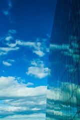 Speglun í Hörpu (icecold46) Tags: blue white reflection iceland reykjavík blátt harpa speglun hvítt