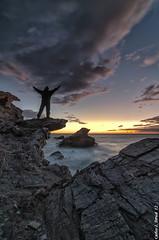 Freedom (Carlos J. Teruel) Tags: sunrise mar mediterraneo tokina murcia amanecer nubes cartagena cabodepalos rocas marinas d300 xaviersam singhraydarylbensonnd3revgrad carlosjteruel