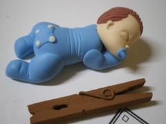 Baby no Soninho (4) (Kelly arte e costura) Tags: artesanato biscuit trabalhosmanuais lembrancinhas chaveiros porcelanafria