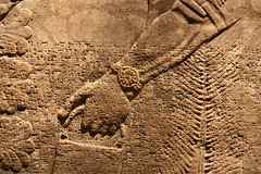 Assyrian Gods (marmotfotos) Tags: newyork museum brooklyn writing hand cuneiform assyrian