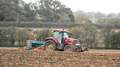 We plough the fields (The original SimonB) Tags: red tractor field suffolk october samsung case 2012 ploughing culpho autumnul wb690