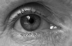 Window of the Soul (Light Collector) Tags: windows light bw reflection eye disconected macromonday ourdailychallenge