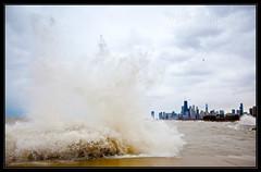 Stormy Seas in Chicago (Josh Merrill Photography) Tags: city copyright chicago storm nature clouds digital illinois waves cityscape photographer crash sandy hurricane places lakemichigan il josh allrightsreserved lisle joshmerrillphotography joshmerrillphotographycom joshmerrill merrilljoshua hurricanesandy