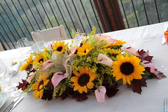 Autumn inspiration (lamirlet) Tags: autumn wedding italy orange inspiration yellow table italian italia sunflower autunno tavolo matrimonio italiano girasoli castagne allestimento arrange riw realitalianwedding