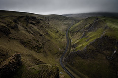 Battle Lines (Duncan Fawkes) Tags: road green rock brooding gloom winding drama mamtor winnatspass landslip