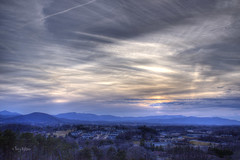 Winter Blues (Terry Aldhizer) Tags: city blue winter sky mountain mountains mill clouds evening twilight dusk blues ridge valley terry hdr vinton rroanoke aldhizer terryaldhizercom