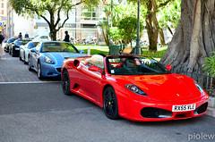 Ferrari F430 Spider, Ferrari California, Ferrari 458 Italia, Bugatti Veyron & Ferrari 458 Italia (piolew) Tags: california blue red white black hotel spider italia top ferrari monaco carlo monte hermitage bugatti marques 2012 f430 combo veyron 458