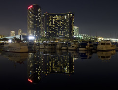 Mariott Hotel - Seaport Village (San Diego Shooter) Tags: reflection hotel sandiego seaportvillage downtownsandiego sandiegocityscape mariottseaportvillage