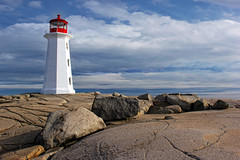On the Rocks (sminky_pinky100 (In and Out)) Tags: travel red lighthouse white canada tourism landscape novascotia iconic freshlypainted peggyscovelighthouse omot cans2s qualitypixels masterclassexhibition masterclasselite thenewmasterclass