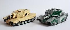 Atlanta MBT and Leopard MBT (Andreas) Tags: lego legotank thepurge legomilitary futuristictank thepurgeeu thepurgeusa thepurgetanks futuristiclegotank