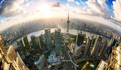 /  Shouting (blackstation) Tags: street windows light building window glass lines skyline night clouds buildings photography photo office nice cityscape shanghai pano magic chinese professional daytime    citylandscape skyscaper shanghaicity 2011       blackstation wangdong