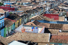 Cross town.. (areyarey) Tags: areyarey cuba trinidad tiltshift town architecture old outdoors view colonial city urban heritage buildings cityscape houses spanish tranquil unesco scenic roofs historic beautiful traditional horizontal famous culture house roof tropical style street stone aerial colourful