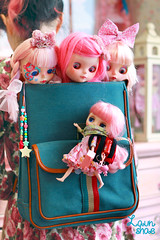 strange feeling something's going on behind my back... (launshae) Tags: pink polaroid diana mirage blythe francoise ananassa middie launshae