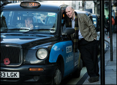 geezer gossip (jonron239) Tags: men london taxi talking geezer drivers geezerwednesday