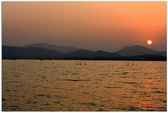 Sunset at Chilika - Travel guide to Chilika (Monsoon Lover) Tags: sunset india nature flickr lagoon orissa chilika chilka rambha chilkalake sudipguharay chilkatraveladvise
