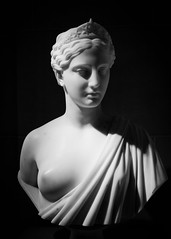 Statue, Chicago Institute of Art (tylermielnichuk) Tags: bw chicago statue canon bust 7d marble tamron2470mmf28vcdiusd