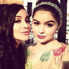 Ariel Winter Posted this image of herself and Shanelle Workman on Twitter with the caption 'Love. Love. Love. Love. You. #GoldenGlobes #mysister #loveher #ModernFamily '