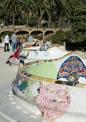 Serpent Bench (Patrick Costello) Tags: barcelona bench spain terrace mosaic catalonia grcia parcgell elcarmel antonigaud seaserpent d5100
