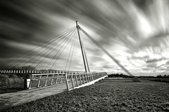 Long Exposure Diglis Footbridge - First Photo to make explore (FallenEmpireLTD) Tags: uk bridge winter light england water monochrome beautiful clouds river lens landscape photography design town photo amazing interesting nikon long exposure experimental moody different natural britain unique tag creative dramatic surreal kingdom structure explore bleak isolation kit worcestershire nikkor 18 55 today flikr westmidlands atmospheric 6th febuary worcester dx d3100