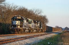 GP60 on a Road Freight (weshendrix) Tags: norfolk southern gsf district macon georgia ga train railfan railroad freight rock diesel engine locomotive emd gp60 outdoor