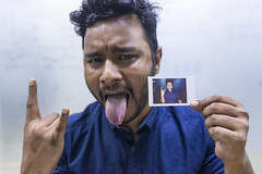 Picture in Picture (AvikBangalee) Tags: portrait people portraiture pip dhaka bangladesh pictureinpicture instantphoto photoinphoto fujifilminstax avikbangalee fujifilminstaxseries