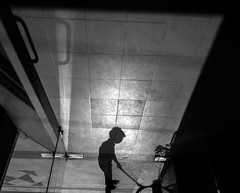 The cleaner (Aranya Ehsan) Tags: people life lifestyle dailylife monochrome bnw bw black blackandwhite sillhoutte shadow light white frame bangladesh dhaka work clean