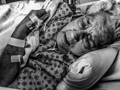Pain. #portrait #blackandwhite #emotion #seniors #elderly #medicine #hospital #healthcare #nursing (katkazoom1) Tags: portrait blackandwhite hospital emotion elderly medicine healthcare nursing seniors