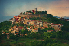 SL120616 Motovun 04 (Sh4un65_Artistry) Tags: artwork buildings churches city croatia croatiaholiday2016 digitalart digitalpainting events hills mountainsandmoorland landscape paintedphoto painterly places textured topaz topazimpression topaztextureeffects