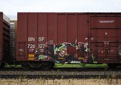 Cole (quiet-silence) Tags: graffiti graff freight fr8 train railroad railcar art cole db zee boxcar bnsf bnsf726327