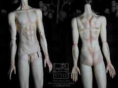 Full blushing & scaring for Ring Doll body (LeaRio Style) Tags: bjd bjds blushing bodyblushing ringdoll scars scaring