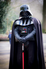 Star Wars im Zoo-06. Mrz 2016-5489 (kraydragon) Tags: cosplay dortmund starwars zoo jedi vader mandalorian fuji 56mm portrait
