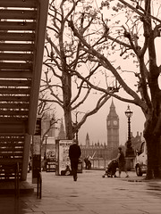 (S_Saker) Tags: outdoor bigben skyline sepia southbank london