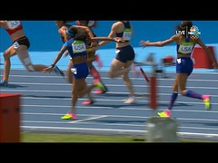 Felix bumped causing botched handoff and DQ in 4x100 relay (Download Youtube Videos Online) Tags: felix bumped causing botched handoff dq 4x100 relay