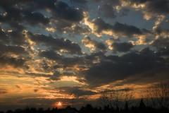sunrise from the roof (peet-astn) Tags: sun sunrise alba dawn clouds roof sole trees