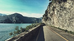 (DiSorDerINaMirrOR) Tags: landscape nature iseolake lake iseo road water summer rocks walking discover italy alps north lombardy