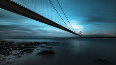 The Humber Bridge (Jez Campbell) Tags: architecture bridge eastriding estuary hessleforeshore hull humberbridge humberestuary landscape river riverouse sky sun yorkshire