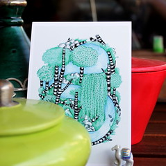By the Withywindle (overthemoon) Tags: home table balcony pots postcard annaelleclot artist camel fve utata:project=ip240 square green red ceramics