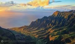 Pu'u O Kila Lookout Sunset (jjohnsonphotography1) Tags: puuokila lookout kauai hawaii sunset kalalau napali coast valley beach ocean clouds