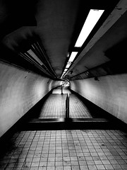 Tunnel Vision (ZAC DES) Tags: black whit e underground tunnel