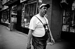 After a Long Day of Hard Work (stimpsonjake) Tags: nikoncoolpixa 185mm streetphotography bucharest romania city candid blackandwhite bw monochrome work man tired