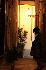Waiting... (fabiodondero) Tags: girl pregnant girlfriend waiting baby urban photo canonphotography canon eos1200d canonphoto nightlights night avenue city lights new life photooftheday plants italian mom love mummy sweetwaiting mypicture mycapture cityscape streetphotography urbanphotography streetscape peopleportrait peoplescape